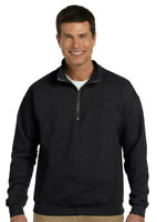 Gildan Men's Athletic Vintage Classic Cadet Collar Quarter Zip Sweatshirt. G188