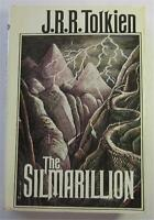 THE SILMARILLION J R R TOLKIEN 1977 HOUGHTON MIFFLIN 1ST AMERICAN ED DJ WITH MAP