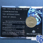 1992 UNC $5 COIN COMMEMORATING THE INTERNATIONAL YEAR OF SPACE COIN