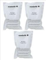 NEW MEDELA REUSABLE FREEZER ICE PACK x3 WHITE; TRANSPORT BREASTMILK work/home