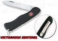 """Victorinox Swiss Army Sentinel Clip Locking Knife Plain Edge 111mm 4.37"""" 54882"""
