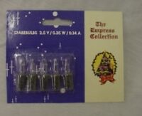 5 Clear Push In Spare Bulbs- 2.5V 0.35W 0.14A (no 16)
