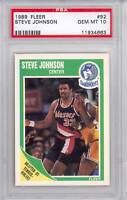 1989 Fleer Basketball Steve Johnson (#92) PSA10 PSA