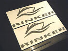 "Rinker Boats New Style Silver Decal 12"" Stickers (Pair)"