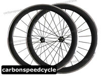 700C 25mm Width Carbon Road Cycling Wheel 50mm Clincher Alloy Brake Surface