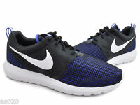 Nike Roshe Run Rosherun NM BR Adults Mens Running Trainers Shoes - Blue & Black