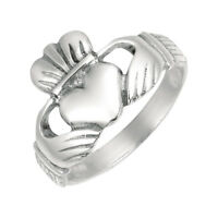 Anti-Tarnish Irish Claddagh Celtic Wedding Ring Real Solid 925 Sterling Silver