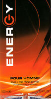 ENERGY POUR HOMME EAU DE TOILETTE SPRAY - 100ml (Perfume UK) (New/Boxed/Sld)