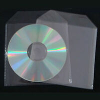 100 CD DVD DISC COVER CASES PLASTIC SLEEVE - 80 MICRON