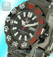SEIKO 5 SPORTS MENS AUTOMATIC ION BLACK MONSTER STYLE DIVERS SNZF53J1