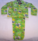 Disney Toy Story Buzz Boys Green Flannel Pyjama Set Size 6 New