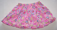 Girls Floral Printed Pink Cotton Skirt Size 1 New