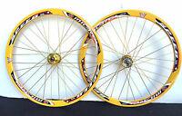 Fixed Gear Track Road Bike700c 40mm Wheels Gold Rim Gold spokes Sealed Bearing