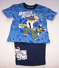 Cartoon Network Ben 10 Boys Blue / Navy Printed 2 Piece Pyjama Set Size 4 New