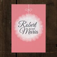 Personalised Winter Bauble Wedding Invitation - Christmas Snowflake 30 50 100