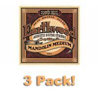3 PACK! Ernie Ball 2065 Earthwood 80/20 Bronze Acoustic Mandolin Medium Strings