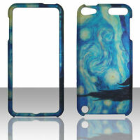 Blue Design  Apple IPod Touch 5 , 5th Generation Case Cover Hard Snap on Case