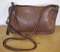 Vintage Genuine COACH Cashin Era Brown Leather Shoulder Purse Handbag Bag SERIAL