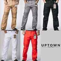 New Men's Access Solid Color Levis Style Biker Twill Pants Jeans AP15028