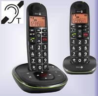 Großtastentelefon doro PhoneEasy 105wr Duo (2 Mobilteile) mit Anrufbeantworter