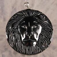 G0190 Hematite lion head pendant bead