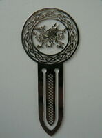 Chrome Celtic Welsh Dragon Design Bookmark - Packaged