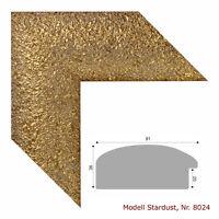 """##  Holz - Bilderrahmen """"STARDUST"""" gold / alle Größen"""
