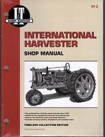 INTERNATIONAL HARVESTER F12,F14,F20,F30,W12  I&T TRACTOR  SERVICE MANUAL IH-2