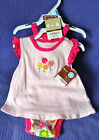 CARTER'S OH SO FUN 3 PIECE SET DRESS ROMPER FRILL PANTS NEW W/TAGS SIZE 6 MONTHS