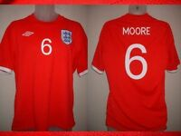 "England BOBBY MOORE 6 Football Soccer Tribute Shirt Jersey Uniform UMBRO L 42"""