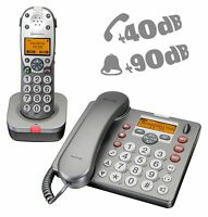 Großtastentelefon amplicomms PowerTel 880 2er-Set Hörgerätekompatibel mit AB