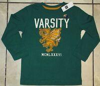NWT GAP Kids Boys Varsity Dragons Applique Graphic Tee Top U Pick Size! NEW
