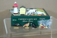 BRITAINS 8714 HOME FARM FARMERS WIFE SET MINT BOXED ow