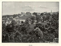 Selkirk RARE large panoramic photographic view 1890s