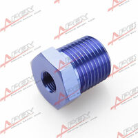 1/2  NPT Stecker Auf 1/4  NPT Buchse Adapter Fitting Aluminium Blau