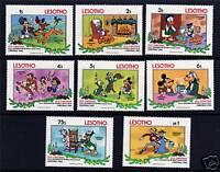 Lesotho 1983 Walt Disney Christmas SG554/61 MNH