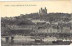 69 - cpa - LYON - Coteau et basilique de Notre Dame de Fourvière