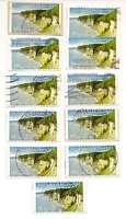 Bund 2012 - 11 x 55 C Nationalpark Jasmund auf Papier gestempelt