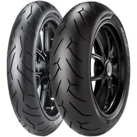 For KTM 990 SuperDuke R 2007-11 Pirelli Diablo Rosso 2 D Front Tyre 120/70 ZR17