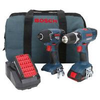 Bosch 18V Li-Ion 2-Tool Combo Kit CLPK24-180 Reconditioned