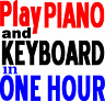 Learn to play piano or keyboard in 1 just an hour.  Adult Beginners Music Book.
