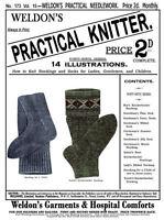 Weldon's 2D #173 c.1899 Victorian era Stocking Knitting Patterns