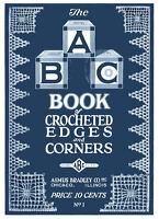 Asmus Bradley ABC Book #1 1920's Era Crochet Pattern Book Edgings & Insertions