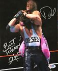 Bret Hitman Hart & Kevin Nash Diesel Signed Auto WWE WWF 8x10 Photo PSA/DNA COA