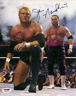 Jim The Anvil Neidhart Sycho Sid Signed 8x10 Photo PSA/DNA COA WWE Auto Vicious