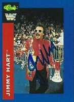 Jimmy Hart Signed Auto'd 1991 WWF Classic Card #77 WWE Pro Wrestling Legends WCW