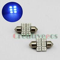 2x 31mm 5050 6SMD LED Festoon Dome 12V Car LED Wedge License Plate Light Lamp