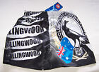 Collingwood Magpies AFL Boys Printed Satin Boxer Shorts Size 12 New