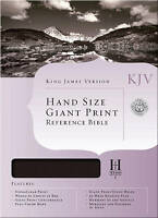 NEW KJV Large Print Personal Size Reference Bible, Black Bonded Leather