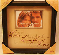 Live, Laugh, Love New View Wood Hanging Tabletop 6 x 4 Photo Frame